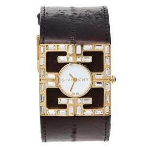 ساعة يد نسائية جيفنشي 4G REG.16337637ستانلس ستيل مطلي ذهب وجلد مم