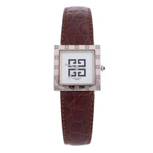 Givenchy White Stainless Steel Apsaras REG. 1 558 962 Women's Wristwatch 27 mm
