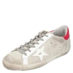Golden Goose Grey Leather Superstar Sneakers EU 38