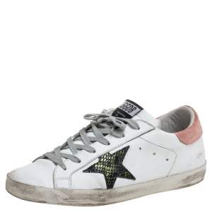Golden Goose  Leather And Suede High Star White Sneakers Size 38