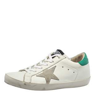 Golden Goose White Leather Superstar Super Star Sneakers Size 38