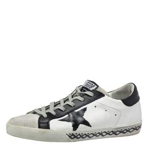 Golden Goose Tricolor Suede And Leather Superstar Low Top Sneakers Size 39