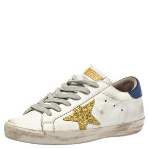 Golden Goose White  Superstar Low Top Sneaker Size 37