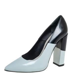 Golden Goose Blue/Black Leather Becky Pumps Size 37