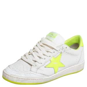 Golden Goose White Leather Ballstar Low Top Sneakers Size 37