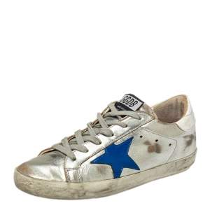 Golden Goose White Patent And Leather Superstar Sneakers Size 35