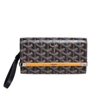 Goyard Black Goyardine Coated Canvas and Leather Monte Carlo Phone Case