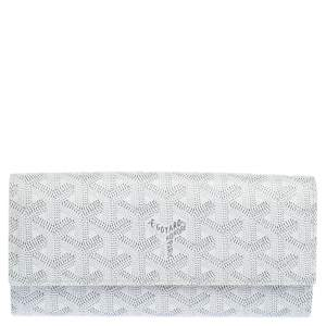 Goyard White Goyardine Coated Canvas Varenne Continental Wallet