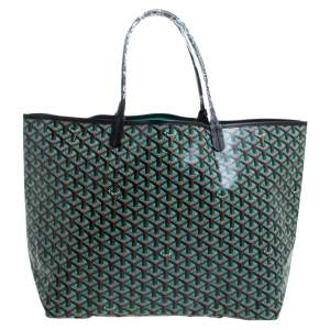 Goyard Black Goyardine Coated Canvas St. Louis GM Tote