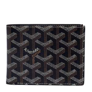 Goyard Dark Blue Coated Canvas Victoire Bifold Wallet
