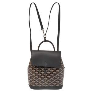 Goyard Black Goyardine Coated Canvas and Leather Mini Alpin Backpack