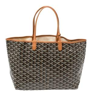 Goyard Black Goyardine Coated Canvas St. Louis PM Tote