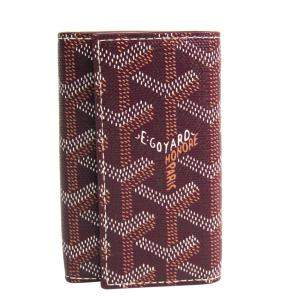Goyard Bordeaux Goyardine Leather Key Case