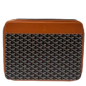 Goyard Brown Goyardine Coated Canvas And Leather Document Case