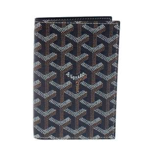 Goyard Blue Goyardine Coated Canvas Grenelle Passport Holder