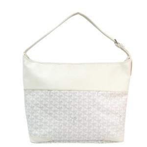 حقيبة كتف جويارد Grenadines  جلد/ كانفاس مقوى شيفرون بيضاء