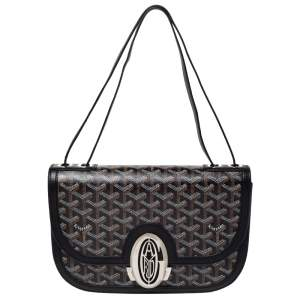 Goyard Black Goyardine Coated Canvas 223 PM Shoulder Bag