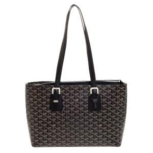 Goyard Black Goyardine Coated Canvas Marie Galante MM Bag