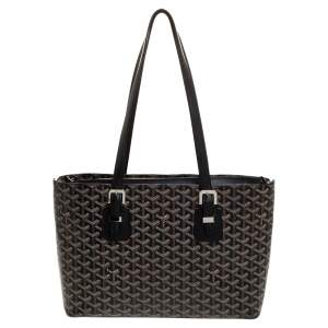 Goyard Black Goyardine Coated Canvas and Leather Okinawa PM Tote