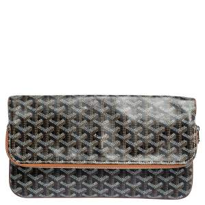 Goyard Black/Brown Goyardine Coated Canvas Sainte Marie Clutch