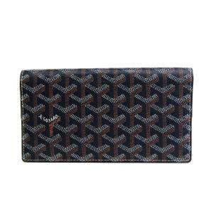 Goyard Navy Blue Coated Canvas Richelieu Wallet