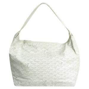 Goyard White Coated Cavas Fidji Bag