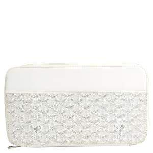 Goyard White Coated Canvas Opera Wallet