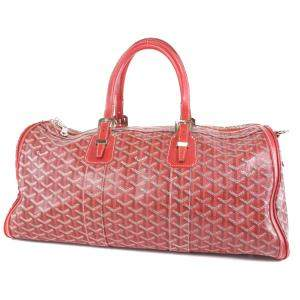 Goyard Red Goyardline Coated Canvas Jules 45 Bag