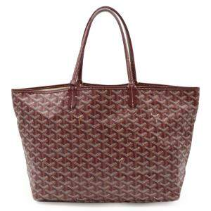 Goyard Burgundy Goyardline Coated Canvas  St. Louis Tote PM Bag