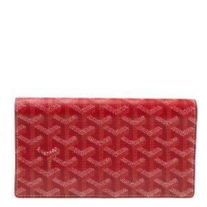 Goyard Red Goyardine Coated Canvas and Leather Richelieu Wallet