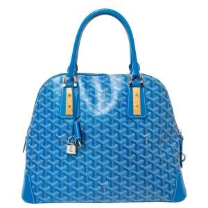 Goyard Blue Goyardine Coated Canvas and Leather Vendôme PM Bag