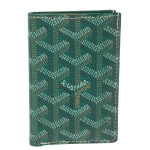 Goyard Green Goyardine Coated Canvas St. Marc Card Holder