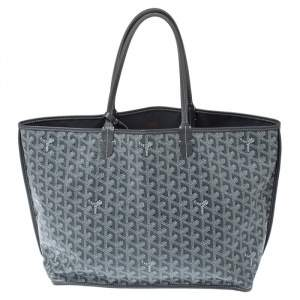 Goyard Grey Goyardine Coated Canvas Artois Tote
