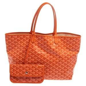 Goyard Orange Goyardine Coated Canvas St. Louis PM Tote