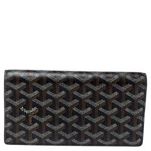 Goyard Black Goyardine Coated Canvas and Leather Richelieu Wallet