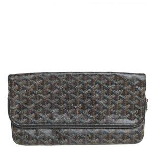 Goyard Black Goyardine Coated Canvas Sainte Marie Clutch