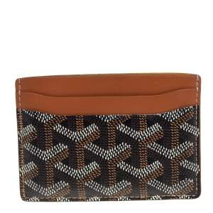 Goyard Brown Goyardine Coated Canvas and Leather Saint Sulpice Card Holder