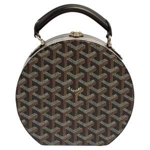 Goyard Black Goyardine Coated Canvas and Leather Alto Hatbox Bag