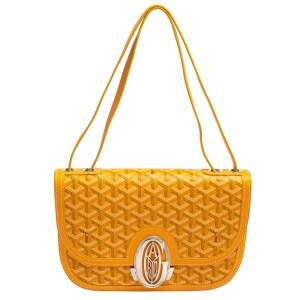 Goyard Mustard Goyardine Coated Canvas 223 PM Shoulder Bag