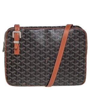 Goyard Brown/Black Goyardine Coated Canvas Yona MM Bag