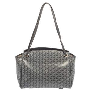 Goyard Grey Goyardine Coated Canvas  2019 Sac Rouette PM Bag