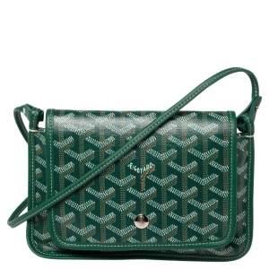 Goyard Green Goyardine Coated Canvas Plumet Crossbody Bag