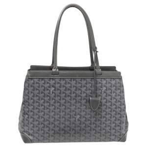 Goyard Grey Goyardine Coated Canvas and Leather Bellechasse PM Tote