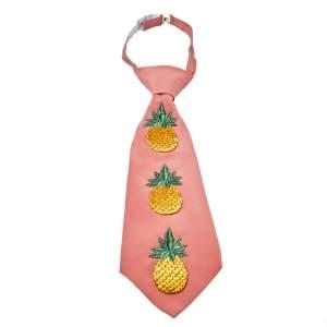 ربطة عنق غوتشي مزين مطرز أناناس وردي