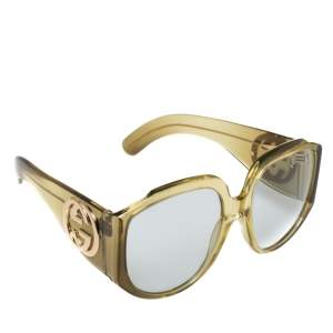 Gucci Yellow GG0151S Oversized Interlocking G Sunglasses