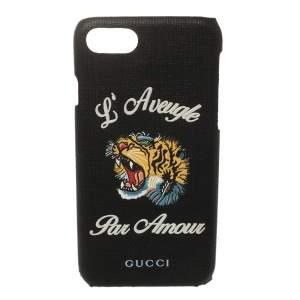 Gucci Black Coated Canvas L'Aveugle Par Amour iPhone 6 Case
