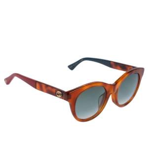 Gucci Brown Tortoise GG0169SA Cat Eye Gradient Sunglasses