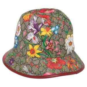 Gucci Multicolor GG Flora Print Fedora S