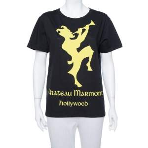 Gucci Black Chateau Marmont Printed Cotton T-shirt XS