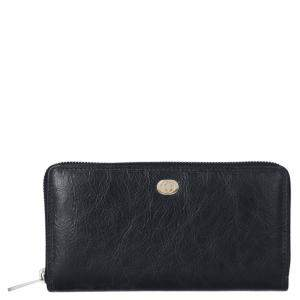 Gucci Black Leather Interlocking G Zip Around Wallet